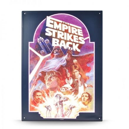 Star Wars Empire Strikes Back Poster - A3 Metal Wall Sign